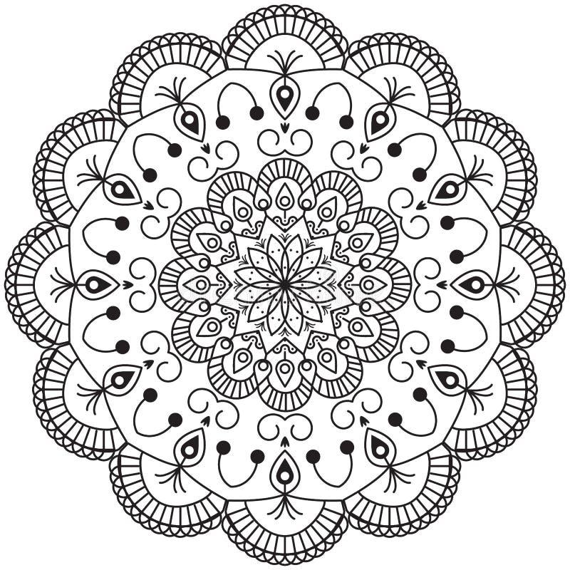 Mandala Design astratta immagini stock libere da diritti