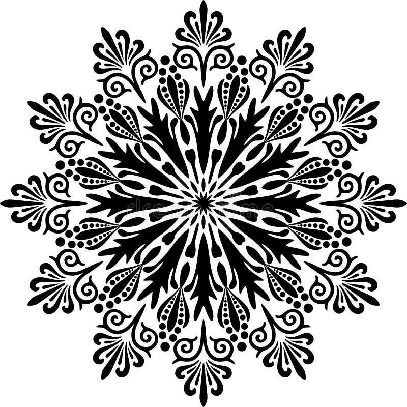 Mandala Design d'annata nel fondo bianco royalty illustrazione gratis