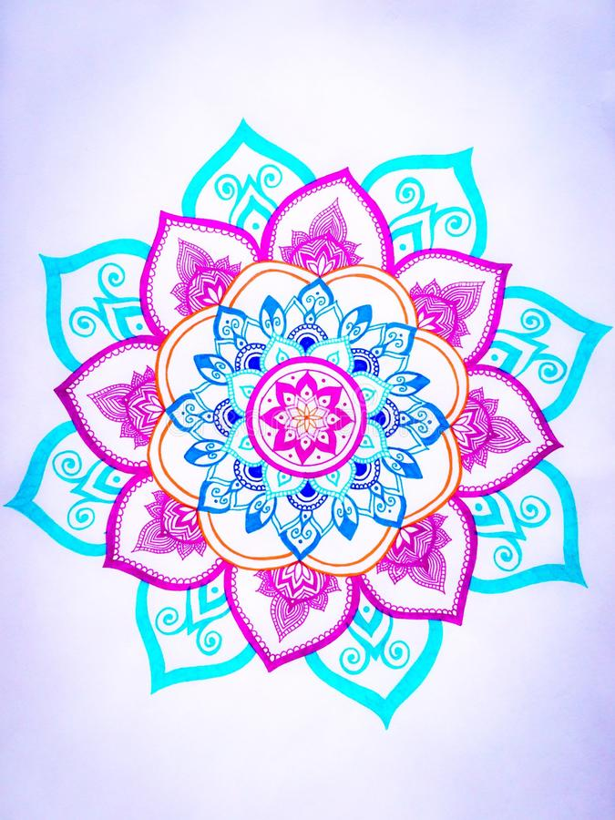 Mandala design. My own hand drawn mandala stock image