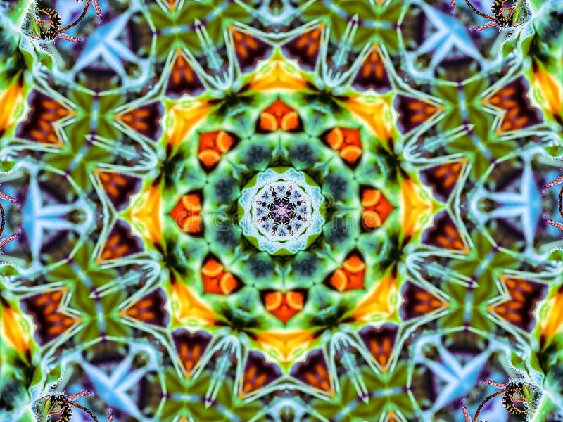 Mandala Design ocupada das vespas ilustração stock