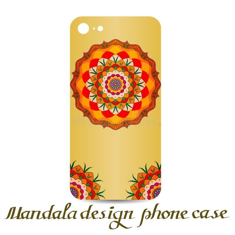 Mandala design phone case.decorative elements. stock illustration