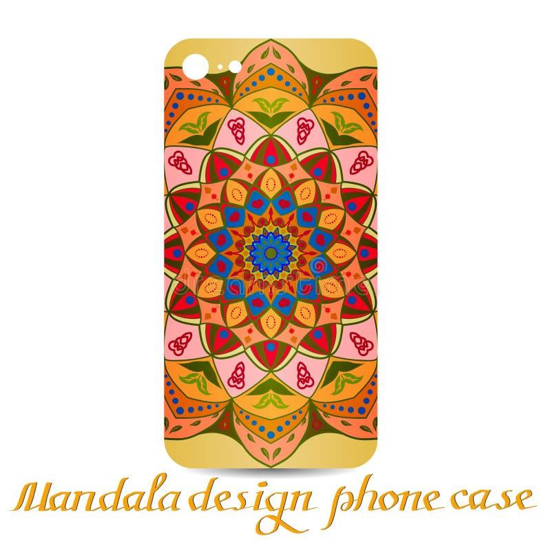 Mandala design phone case.decorative elements. royalty free illustration