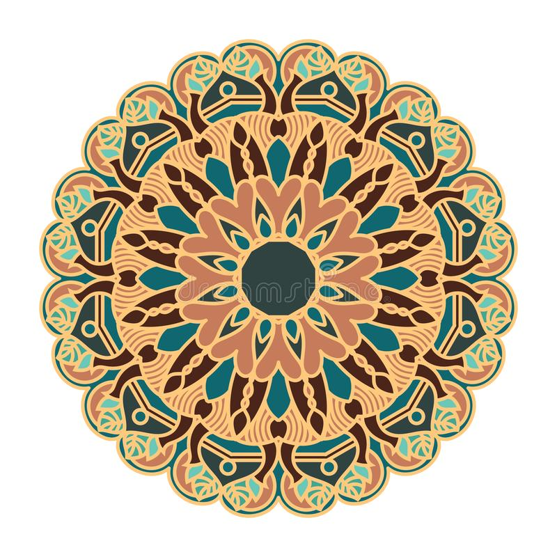 Mandala design with pretty colors and patterns. Mandala design with pretty colors and pattern vector illustration