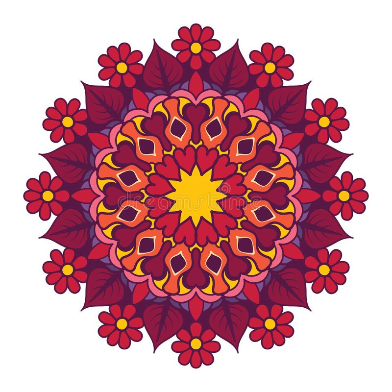 Mandala design with vibrant colors. Mandala design with vibrant color vector illustration