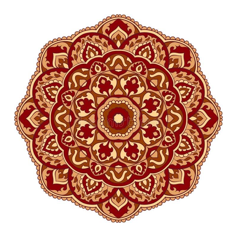 Mandala di orientale di vettore illustrazione di stock