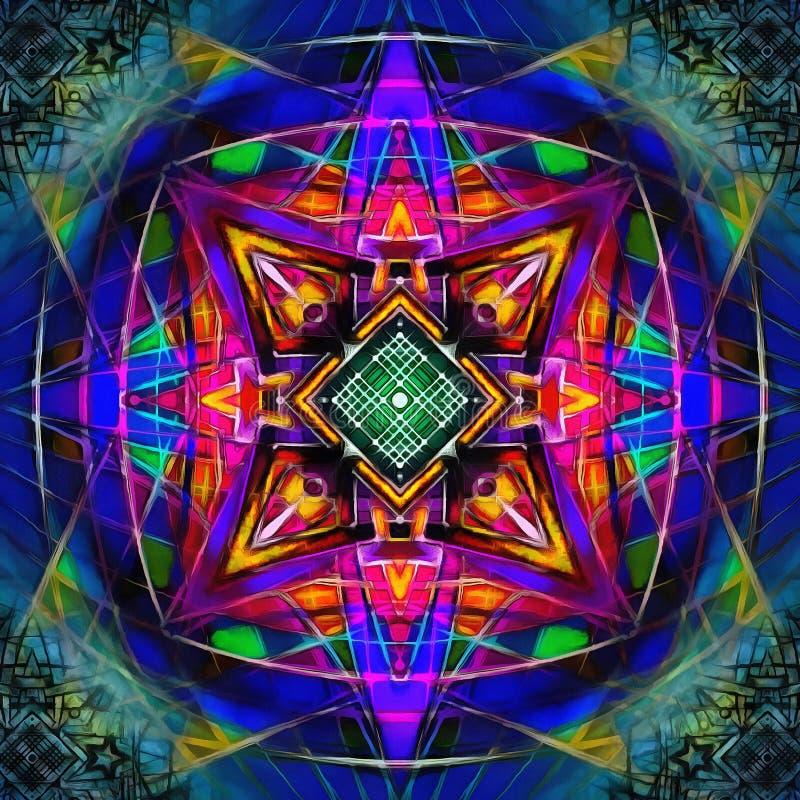Mandala Digital Nu inverted stock illustration