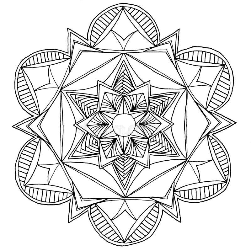 Mandala disegnata a mano royalty illustrazione gratis