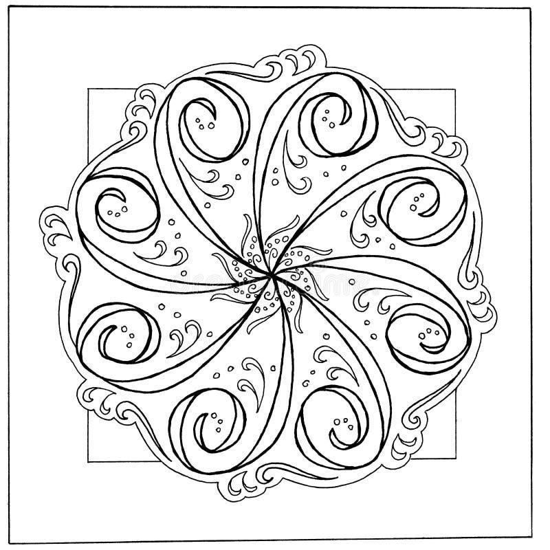 Mandala disegnata a mano illustrazione di stock