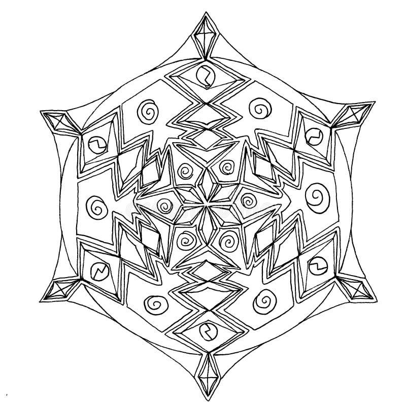 Mandala disegnata a mano illustrazione vettoriale