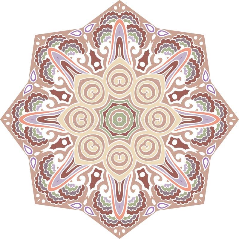 Mandala dla Paisley, wschodni ogórek Kwiecisty lato projekt round ilustracji