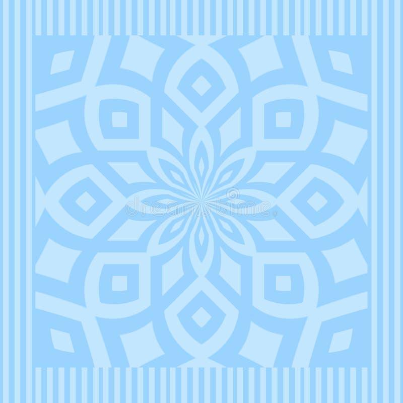 Mandala do azul de oceano ilustração stock