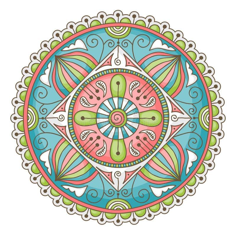 Mandala do Doodle ilustração royalty free