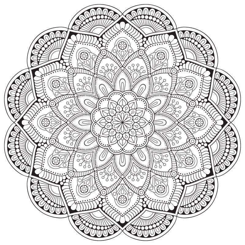 Mandala do indiano do vetor ilustração royalty free