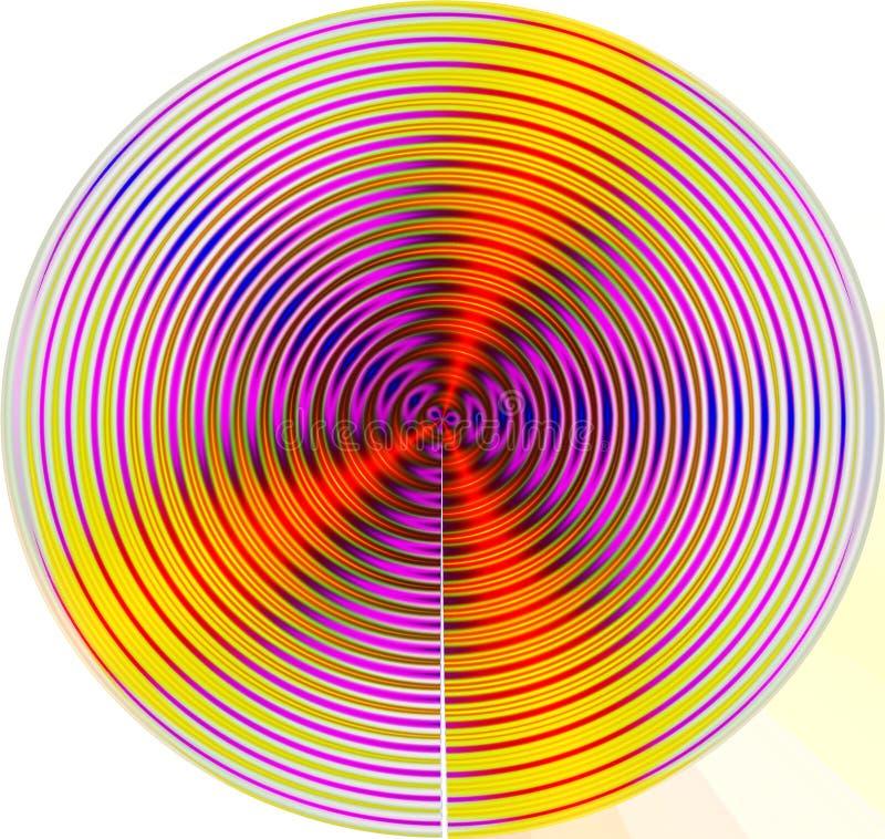 Mandala do movimento ilustração stock
