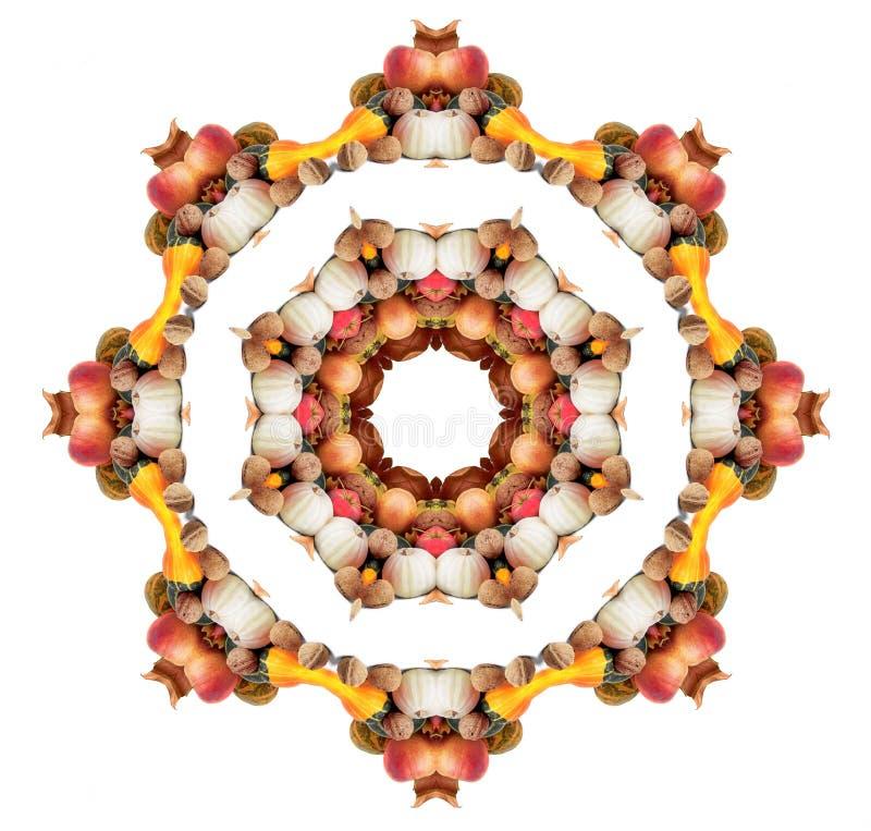 Mandala do outono ilustração stock