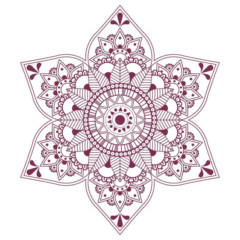 Mandala do vetor, arabian e ornamento do indiano ilustração do vetor