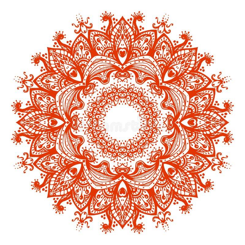 Mandala do vetor Ilustração bonita para o cartão ou o t-shirt Sacr ilustração royalty free