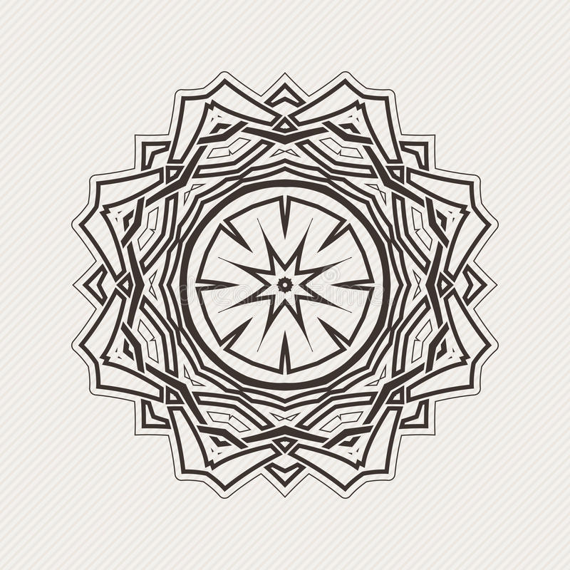 Mandala do vetor Tatuagem gótico do laço Weave celta com cantos afiados ilustração do vetor