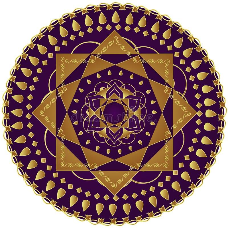 Mandala elegante ilustração do vetor