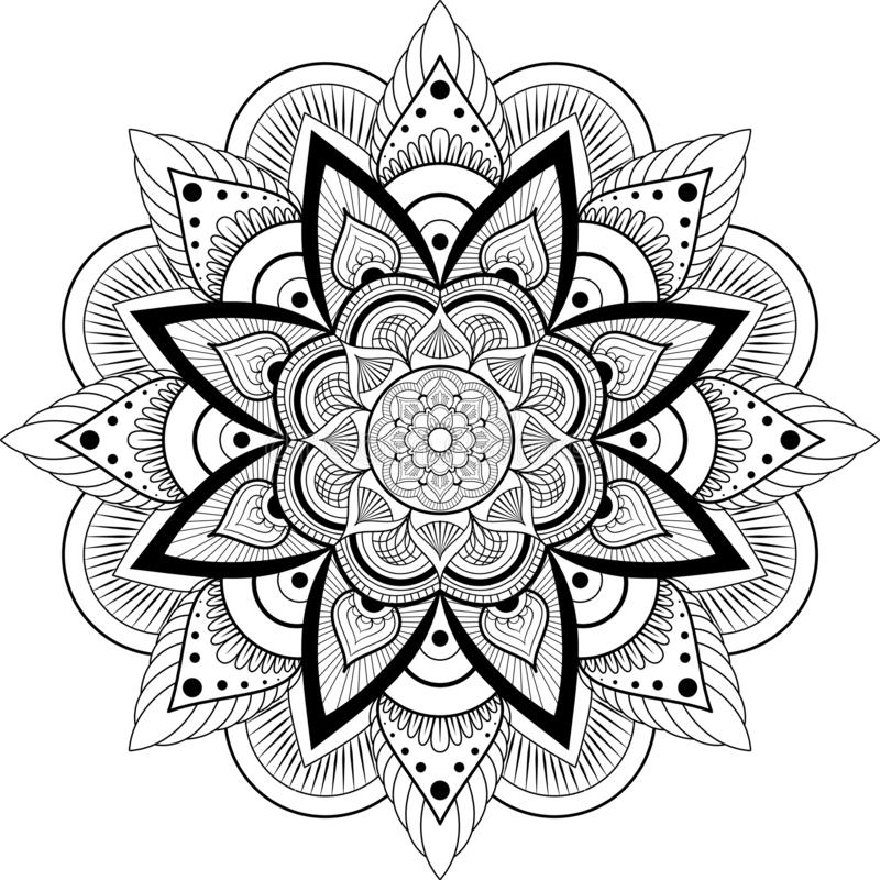 mandala Elementi decorativi dell'annata royalty illustrazione gratis