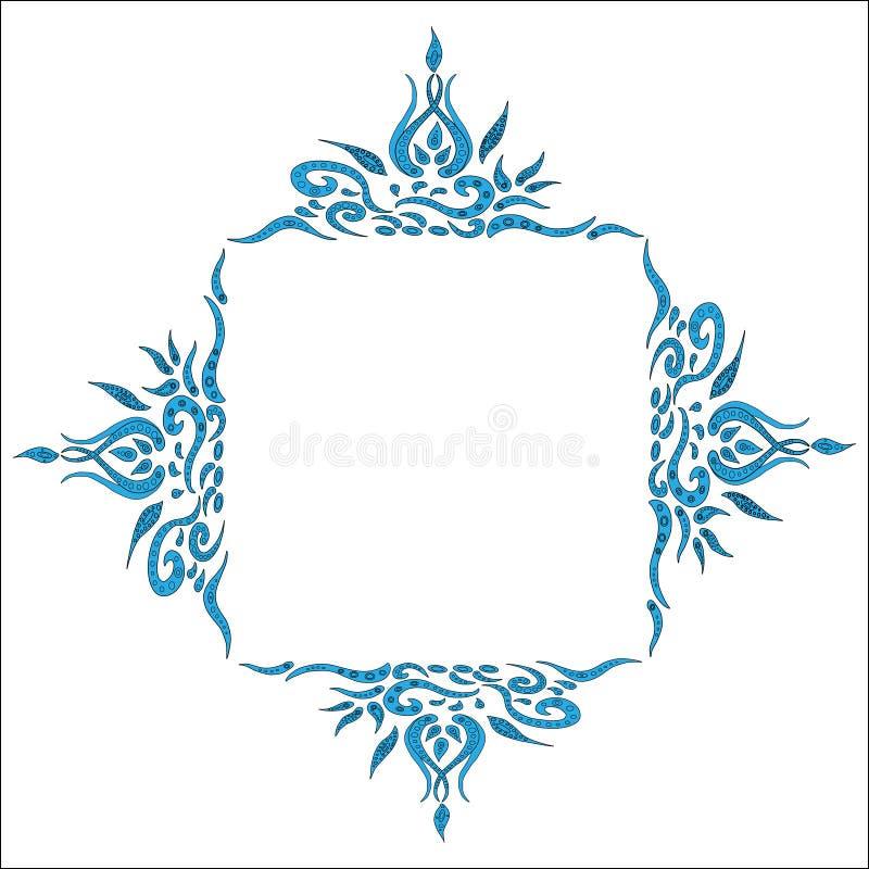 mandala Elemento decorativo étnico Contexto dibujado mano Islam, árabe, indio, adornos del otomano Estilo de Boho Vector para col stock de ilustración