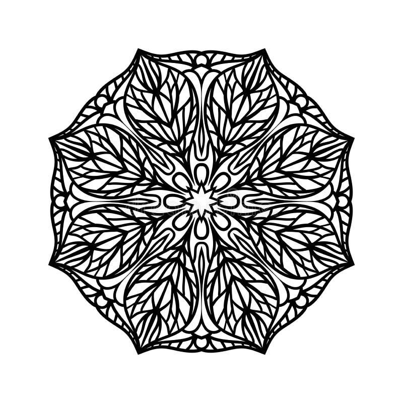 mandala Elementos decorativos étnicos Fondo dibujado mano Brote de flor grande libre illustration