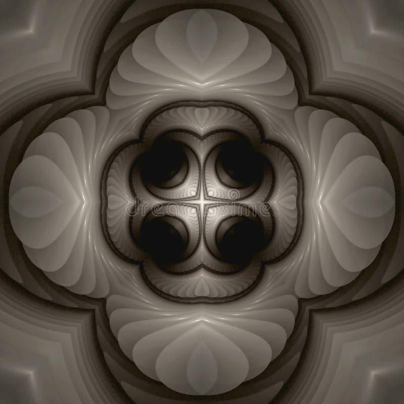 Mandala en ivoire illustration stock