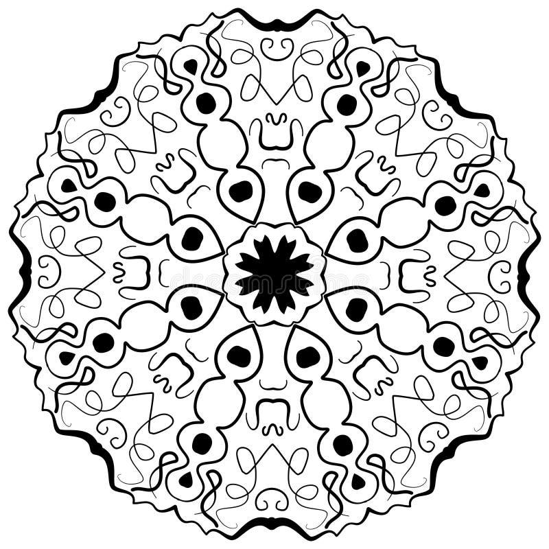 Mandala Ethnic dekorativa beståndsdelar royaltyfri illustrationer