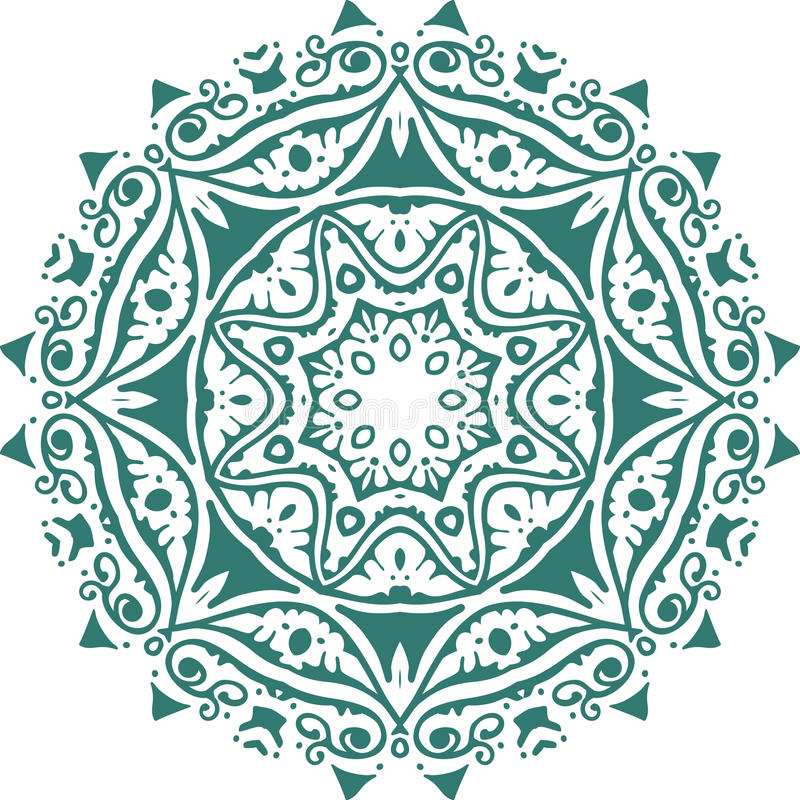 Mandala ethnic indian illustration design. Art royalty free illustration