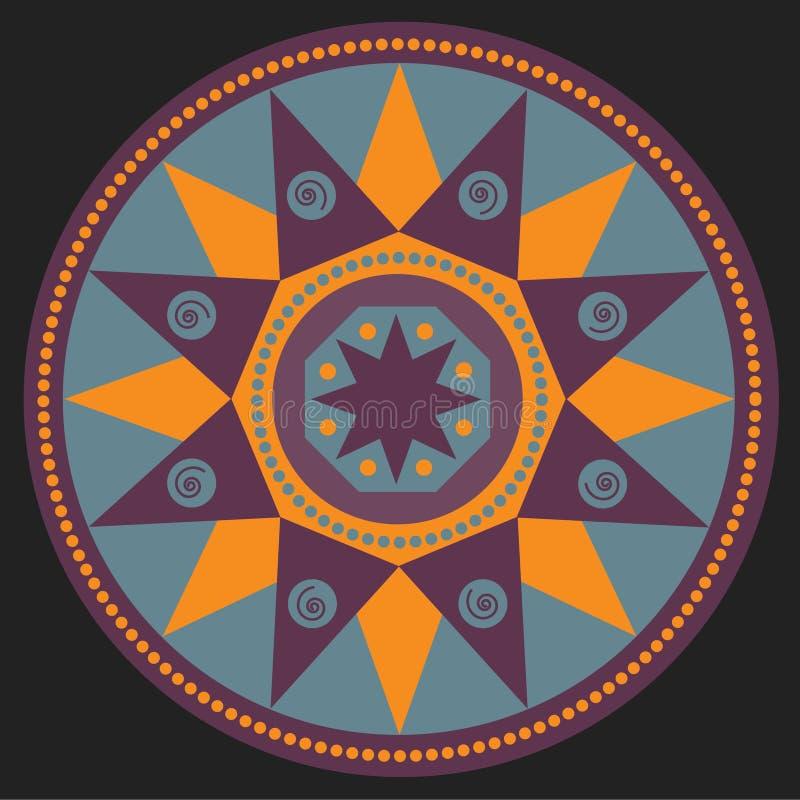 Mandala, ethnic simbol stock image