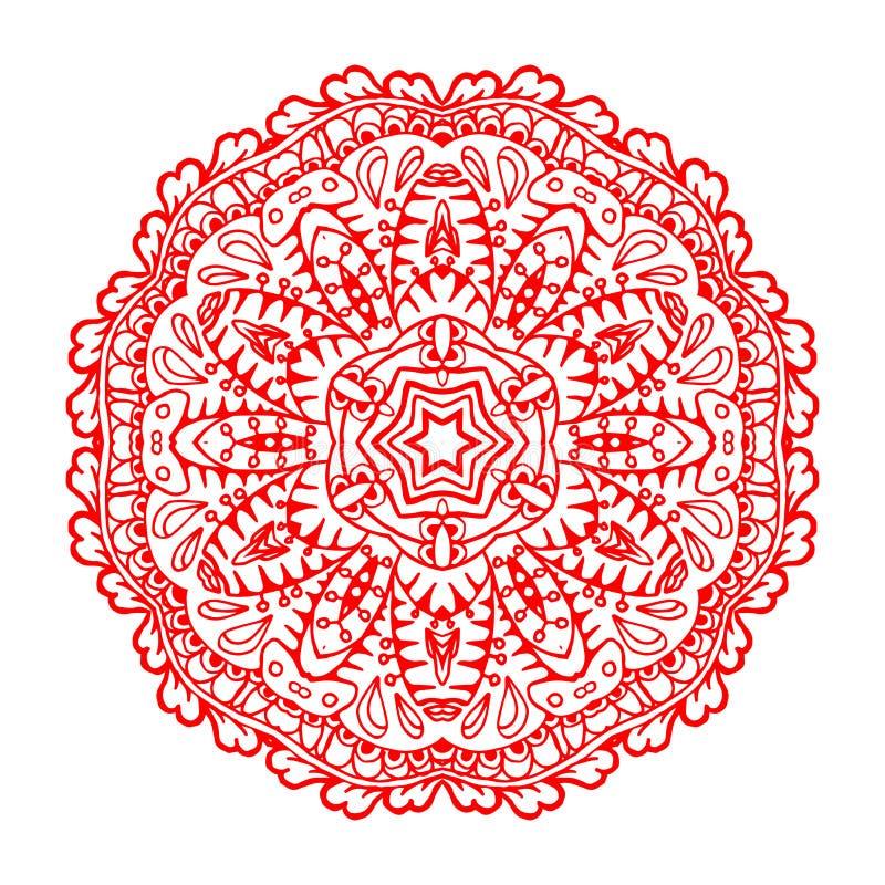 mandala Etnisk dekorativ beståndsdel royaltyfri illustrationer