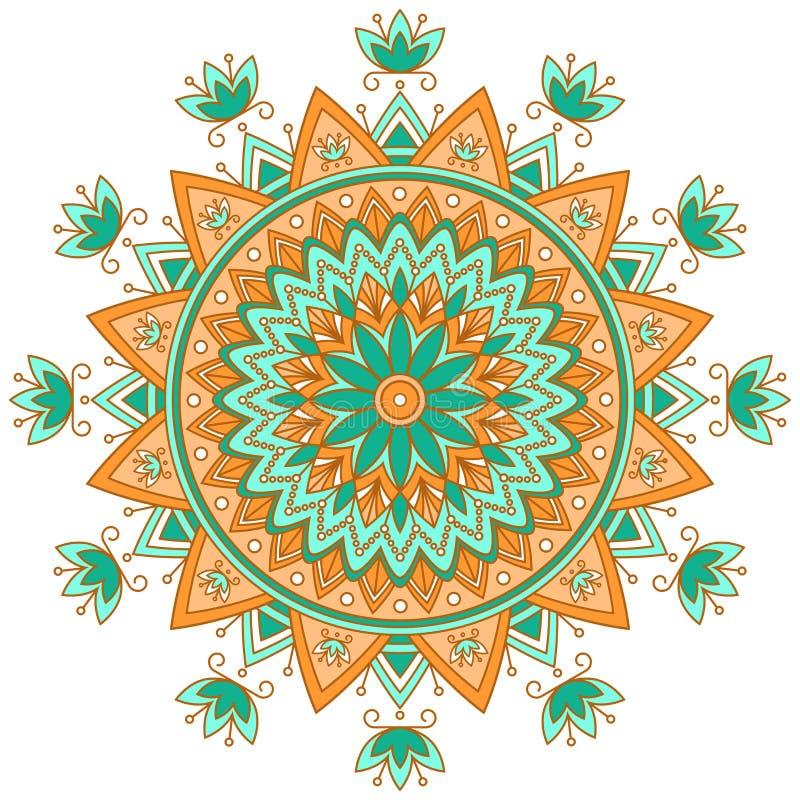 mandala Etniska dekorativa beståndsdelar dekorativ elementtappning Orientalisk modell, vektorillustration vektor illustrationer