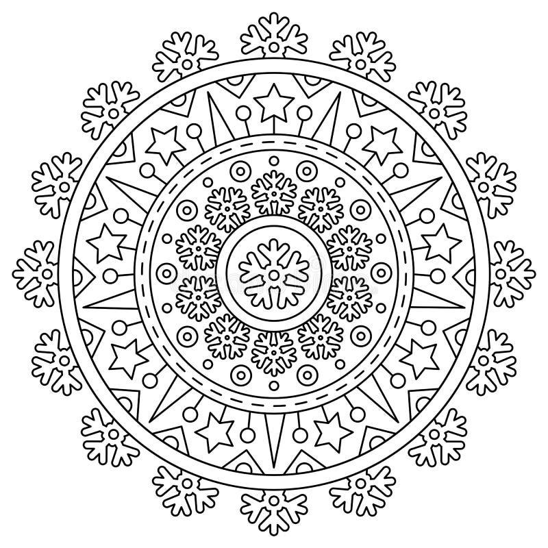 mandala Färga sidan också vektor för coreldrawillustration royaltyfri illustrationer