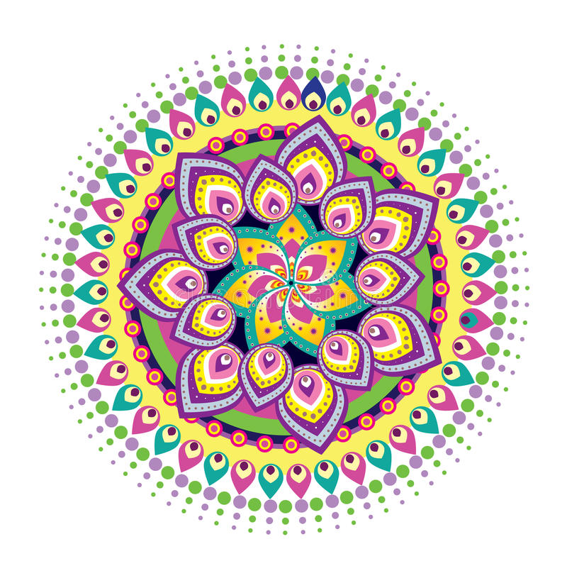 Mandala för blommamodell royaltyfri illustrationer