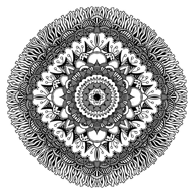 Mandala för färgläggningbok vektor illustrationer