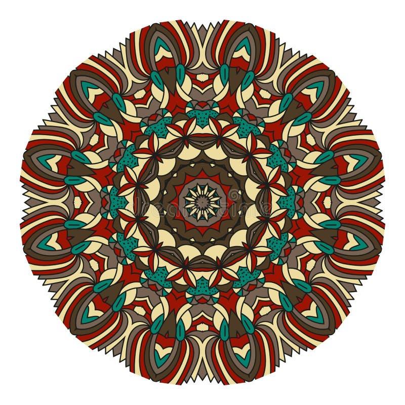 Mandala für Kunst, Erwachsenen und Kindermalbuch, zendoodle Die Hand, die ringsum zentangle gezeichnet wird, kann verwendetes Kre lizenzfreie abbildung