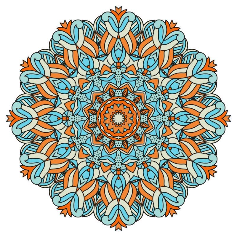 Mandala für Kunst, Erwachsenen und Kindermalbuch, zendoodle Die Hand, die ringsum zentangle gezeichnet wird, kann verwendetes Kre stockfotografie