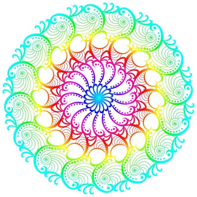 Mandala feliz del planeta del arco iris libre illustration