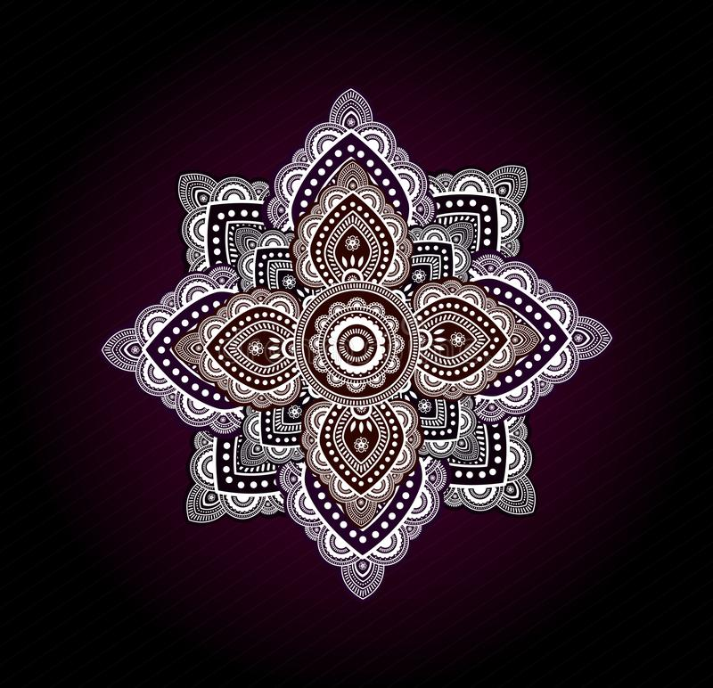 Abstract colorful mandala background with soft gradient. And high details royalty free illustration