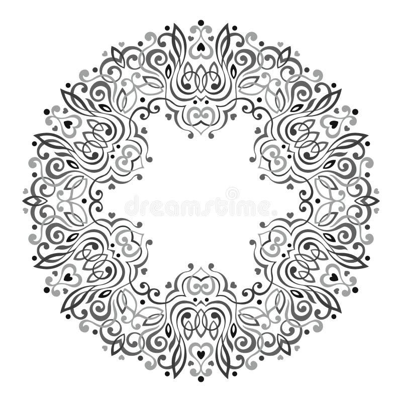 Mandala fleuri abstrait Trame décorative pour la conception illustration de vecteur