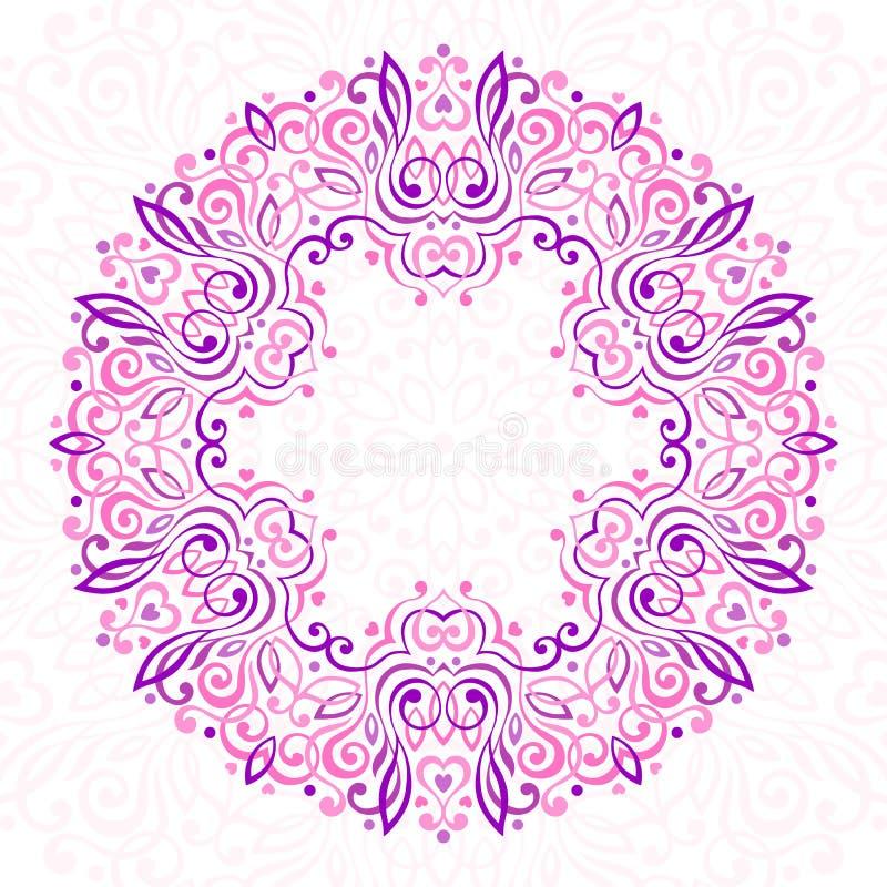 Mandala fleuri abstrait Trame décorative pour la conception illustration libre de droits