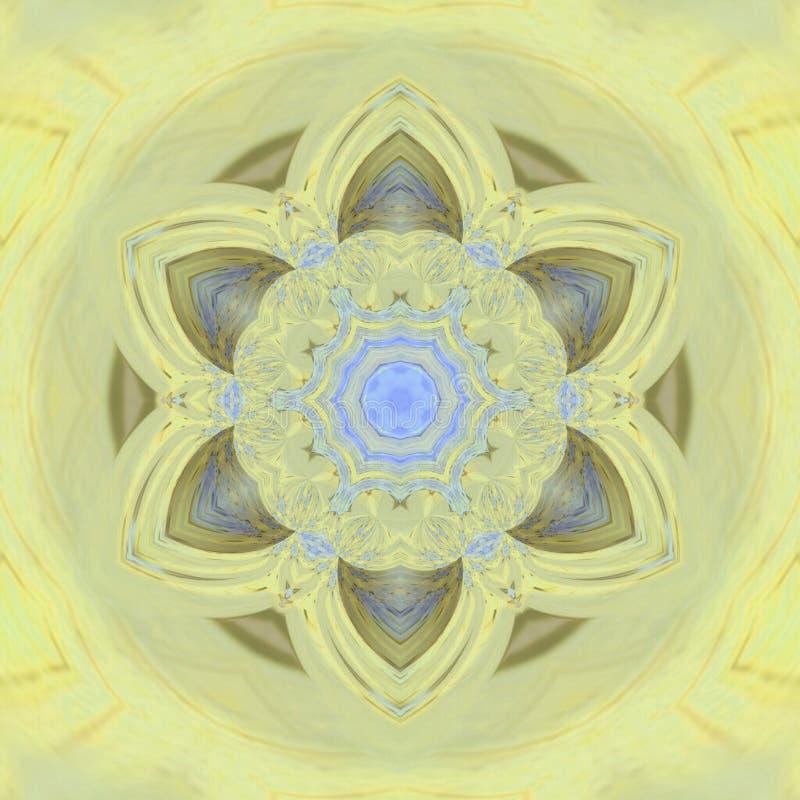 Mandala floral de tournesol de symbole photos stock
