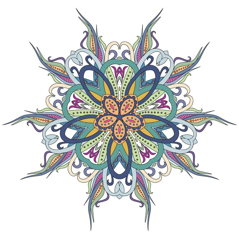Download Mandala Floral Flower Oriental Coloring And Ethnic Pattern