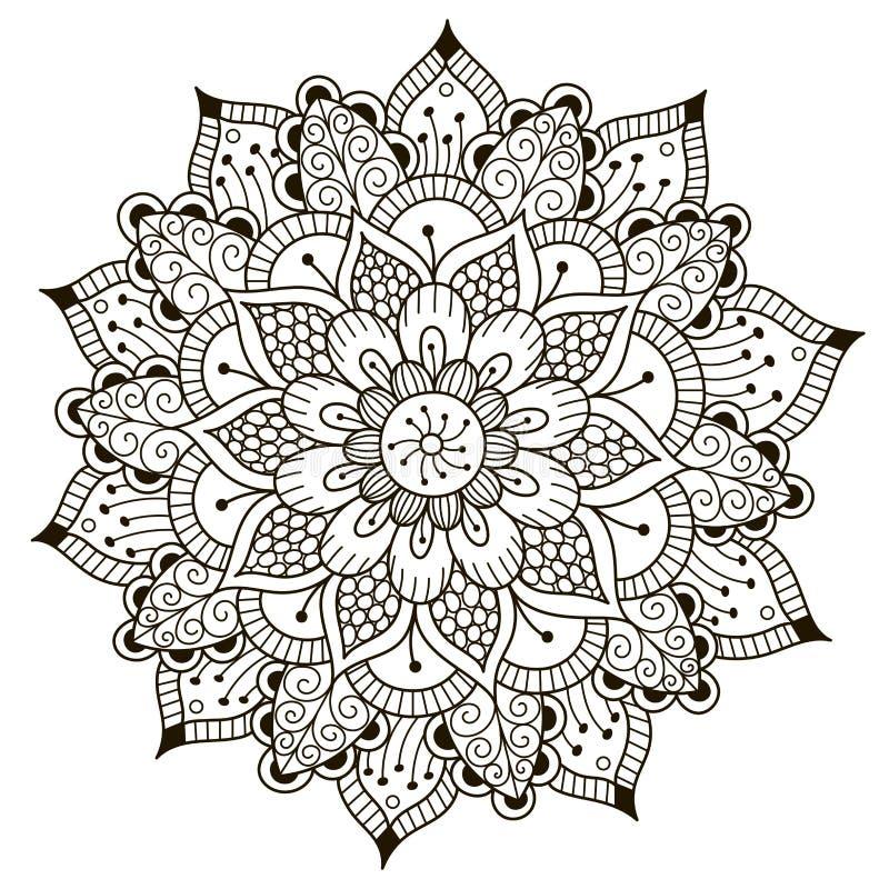 Mandala floral hermosa de Deco libre illustration