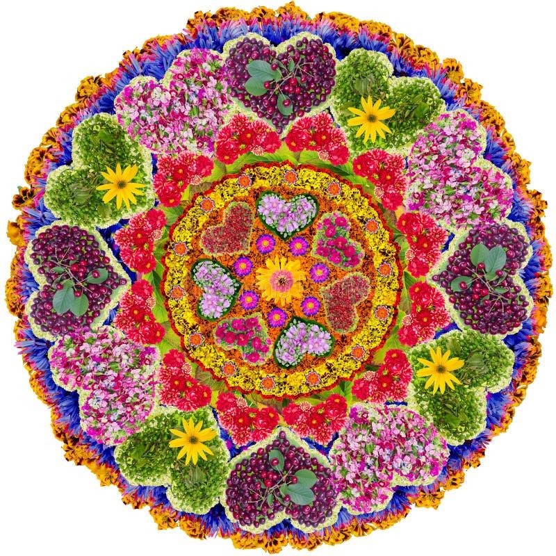 Mandala floral isolada do amor fotografia de stock royalty free