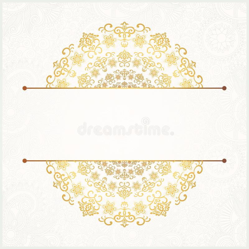 Mandala Floral Pattern Background Template royalty-vrije illustratie
