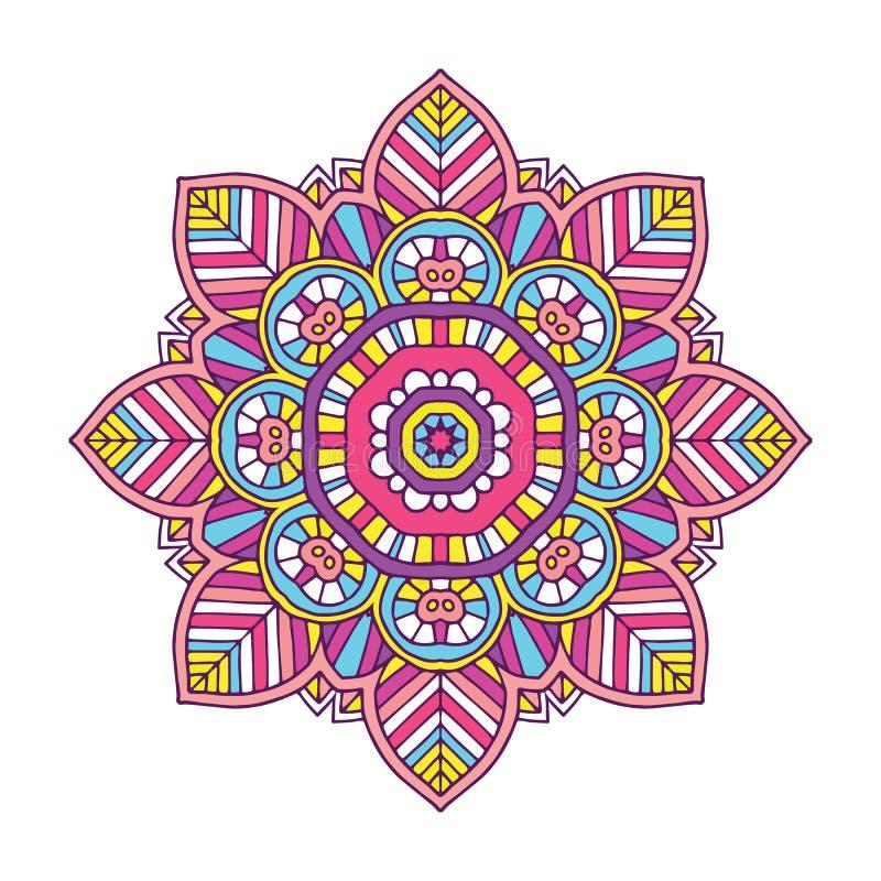 Mandala floreale colorata royalty illustrazione gratis