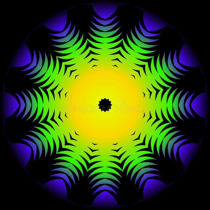 Mandala floreale decorativa moderna di colore illustrazione di stock