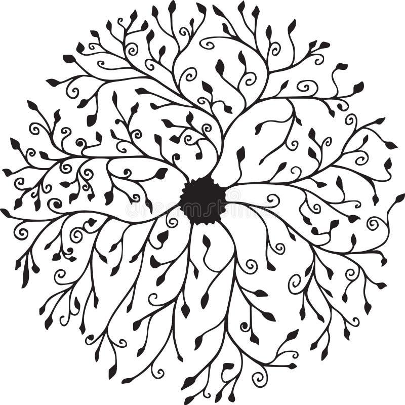 Mandala floreale dell'anello fotografia stock