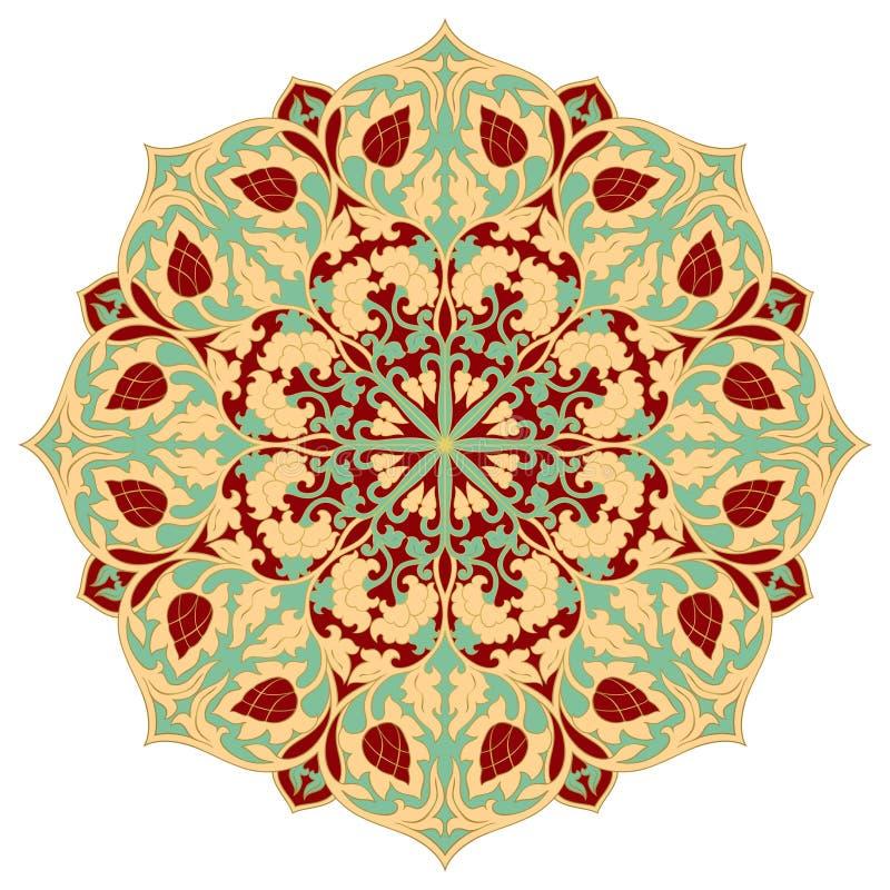 Mandala floreale di vettore Ornamento elegante orientale illustrazione di stock